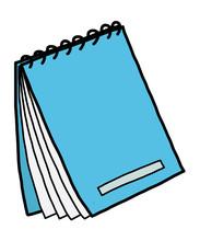 Blue Notebook / Cartoon Vector...