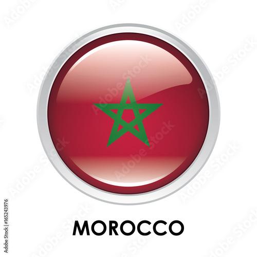 Plakat Round flag of Morocco