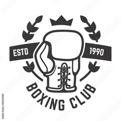 boxing club emblem template boxing glove design element for label