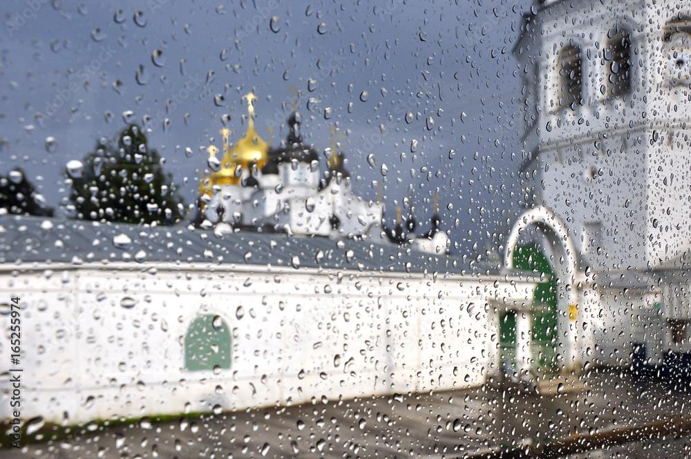 Fototapety, obrazy: Russia. Kostroma. Rain watercolor