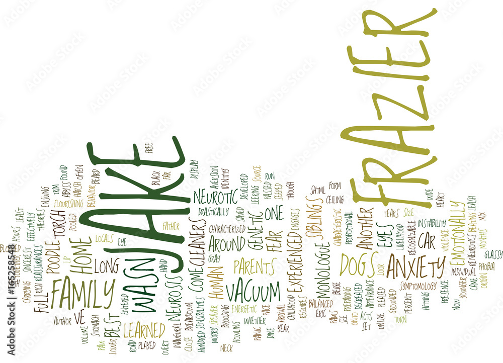 Photo  THE NEUROTIC DOGS Text Background Word Cloud Concept