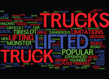THE LIFTED TRUCK EXPERIENCE FUN FOR EVERYONE Text Background Word Cloud Concept