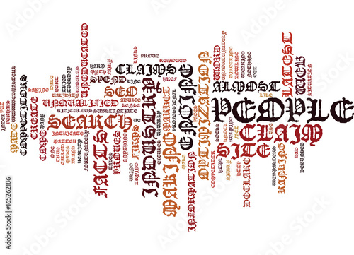 Fotografie, Obraz  THE LATEST SEO MYTH DEBUNKED Text Background Word Cloud Concept