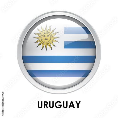Fotografía  Round flag of Uruguay