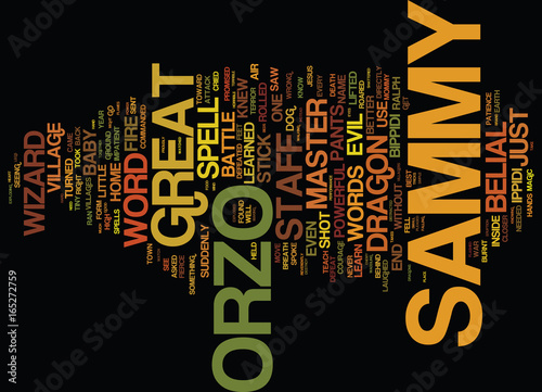 Fotografie, Obraz  THE BRAND NEW WIZARD Text Background Word Cloud Concept