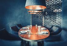 Empty Restaurant Room With Big...