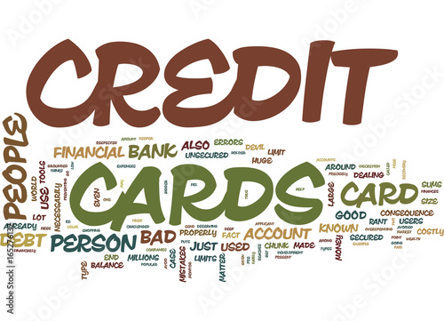 THE BAD CREDIT CARD THAT MAY DO GOOD Text Background Word