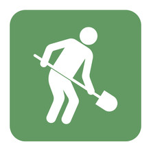 Digger With Shovel Icon