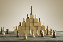 Business Hierarchy; Ranking And Strategy Concept