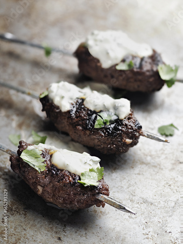 rustic greek middle eastern lamb kofta