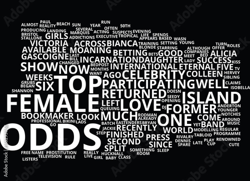 Photo LOVE ISLAND MEET THE CONTESTANTS PART ONE Text Background Word Cloud Concept