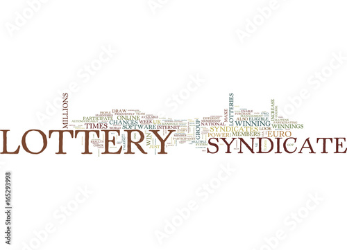Photo  LOTTERY SYNDICATES SHOULD YOU PARTICIPATE Text Background Word Cloud Concept