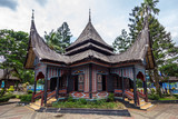 The traditional house of Indonesia, Replica traditional house western Sumatra, Padang