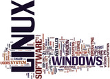 LINUX FOR HOME USERS Text Background Word Cloud Concept