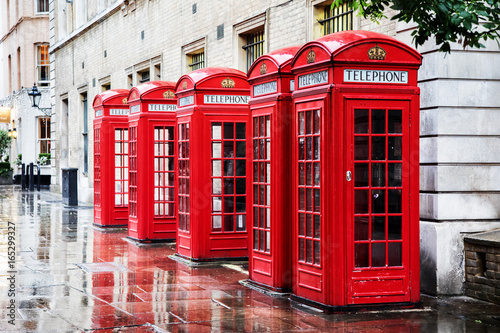 Foto op Canvas Londen Covent Garden phone boxes