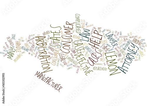 Staande foto Schilderingen LEMON LAW LAWYER COULD BE USEFUL Text Background Word Cloud Concept
