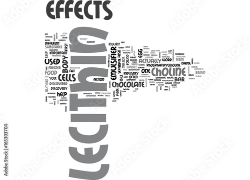 Fototapeta LECITHIN EFFECTS Text Background Word Cloud Concept