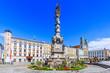 Leinwanddruck Bild - Linz, Austria. Holy Trinity column on the Main Square (Hauptplatz).
