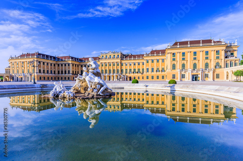 Vienna, Austria. Schonbrunn Palace. The former imperial summer residence is a UNESCO World Heritage site.
