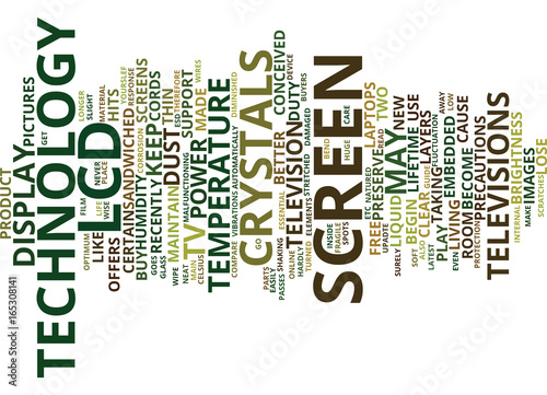 LCD TV HOW TO MAINTAIN YOUR LCD SCREENS Text Background Word