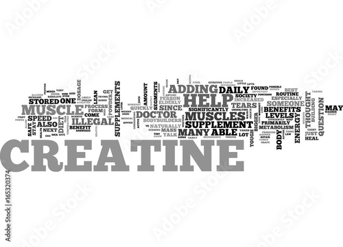 Fotografia  IS CREATINE ILLEGAL Text Background Word Cloud Concept