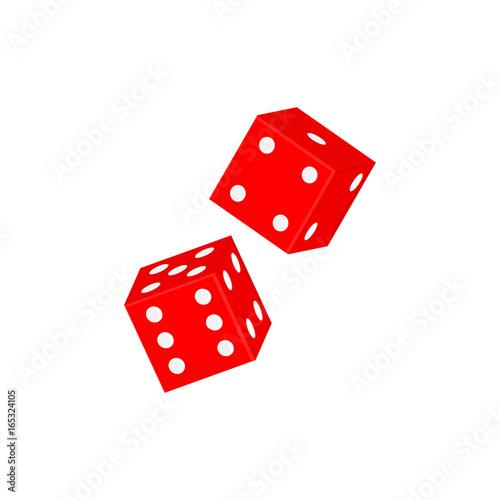 Red casino dices плакат