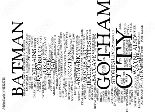 Photo  GOTHAM CITY Text Background Word Cloud Concept
