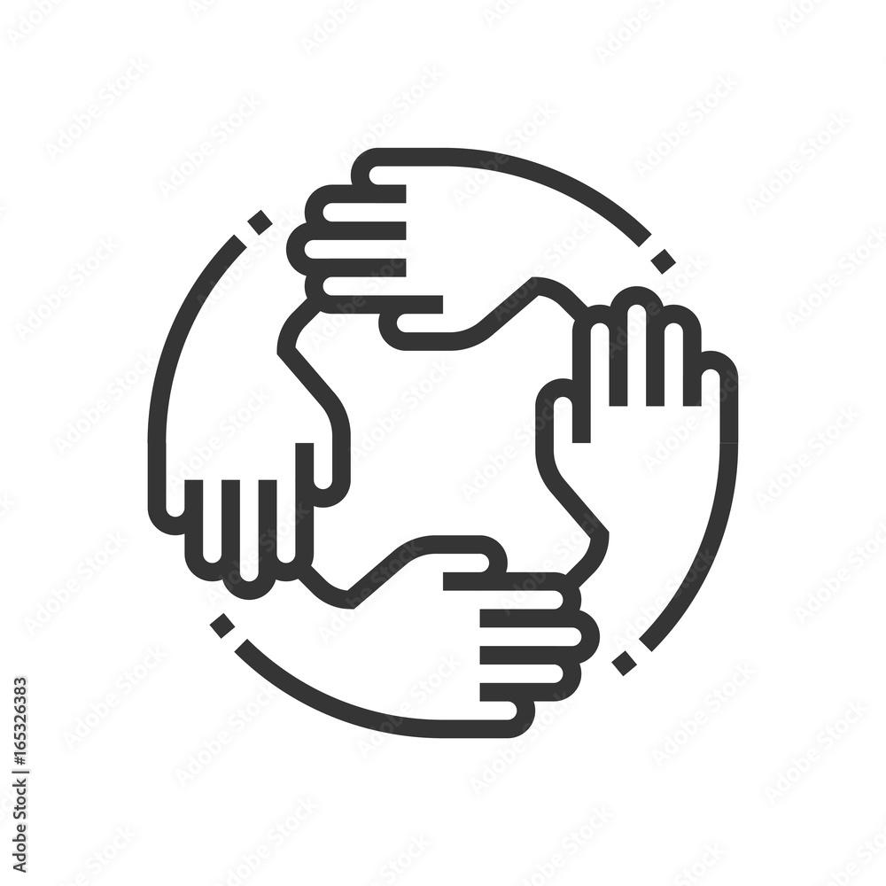 Fototapeta Teamwork icon