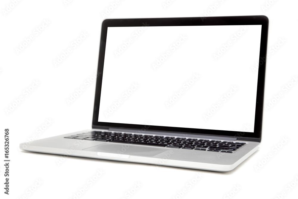 Fototapety, obrazy: Laptop isolated on the white background