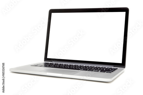 Fotografia  Laptop isolated on the white background
