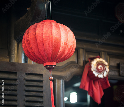 Tuinposter China Traditional lantern in Hoi An, Vietnam