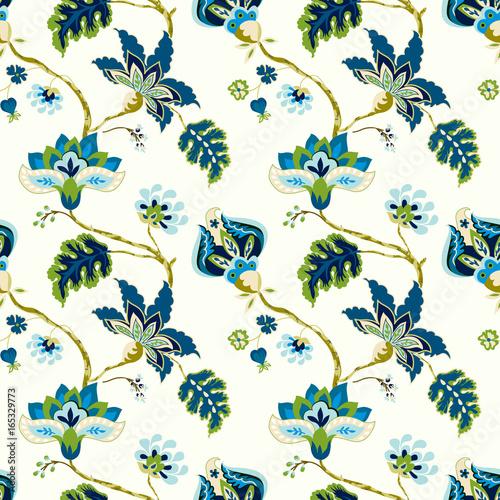 Seamless pattern with fantasy flowers Tapéta, Fotótapéta
