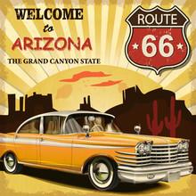 Welcome To Arizona Retro Poster