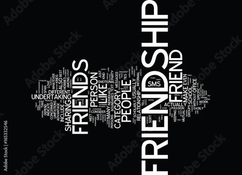 Fotografie, Obraz  FRIENDSHIP Text Background Word Cloud Concept
