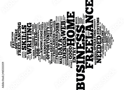Photo  FREELANCE JOBS AND THE HOME BUSINESS Text Background Word Cloud Concept