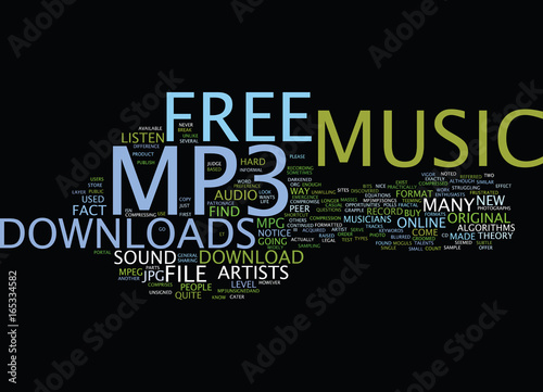 FREE MP MUSIC DOWNLOAD Text Background Word Cloud Concept - Buy this