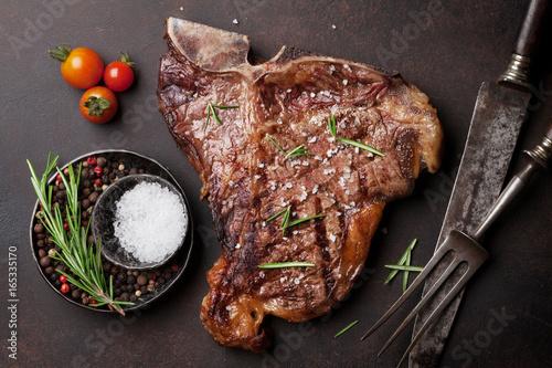 Foto op Plexiglas Steakhouse T-bone steak