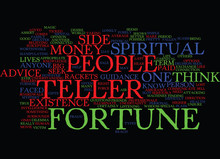 FORTUNE TELLER Text Background Word Cloud Concept