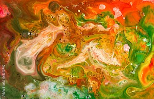 Plakat Abstrakcjonistyczny atrament w płynnym chaosu tle