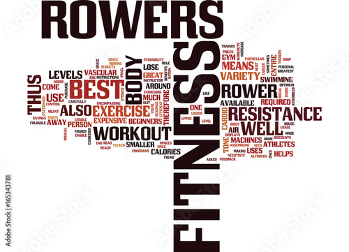 Fotografie, Obraz  FITNESS ROWERS ARE THE BEST Text Background Word Cloud Concept