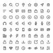 Leinwanddruck Bild - Basic icon set for web and mobile ui