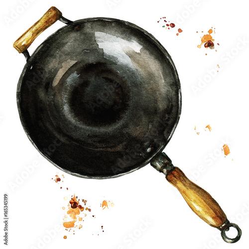 Acrylic Prints Watercolor Illustrations Pan. Watercolor Illustration.