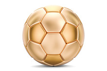 Golden Soccer Ball, 3D Rendering