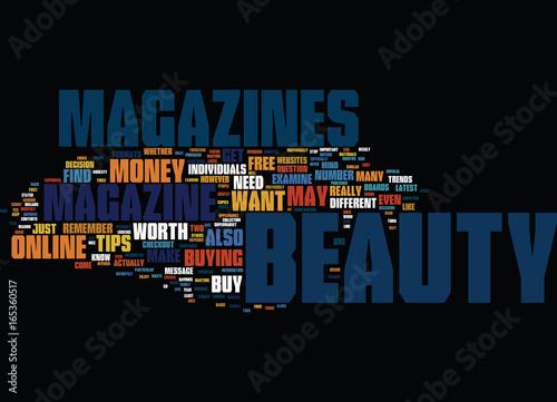 Fotografie, Obraz  BEAUTY MAKE UP Text Background Word Cloud Concept