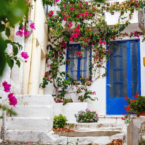 Fototapety, obrazy: Narrow street in the village of Kritsa near Agios Nikolaos, Crete, Greece