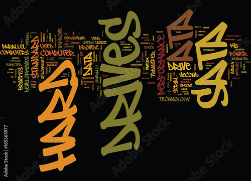 Photo ATA VS SATA HARD DRIVES Text Background Word Cloud Concept