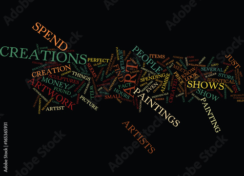 ART SHOWS Text Background Word Cloud Concept Canvas Print