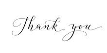 Thank You Words, Hand Written ...