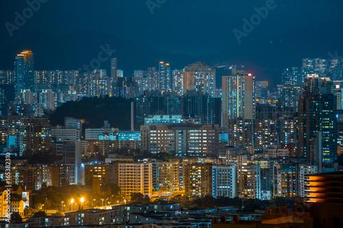 Fototapety, obrazy: Hong Kong Skyscraper at night