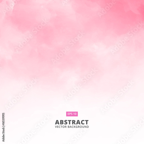 Fotografia Abstract white cloud detail in pink sky vector illustration background with copy